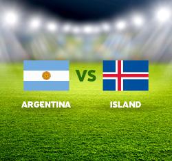 Futbalový duel Argentina x Island