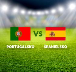 Futbalový duel Portugalsko x Španielsko