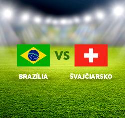 Futbalový duel Brazília x Švajčiarsko