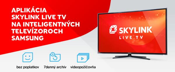 Aplikácia Skylink Live TV aj v televízoroch Samsung