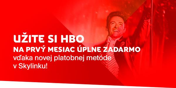 HBO na prvý mesiac zadarmo